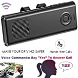 Bluetooth In-Car Speakerphone Handsfree With Mic Multipoint Bluetooth Wireless Sun Visor Car Kit with Car Charger Clip for iPhone iPad Samsung HTC LG