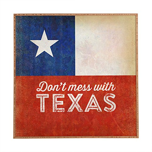 Deny Designs 12 by 12 by 1-Inch Anderson Design Group Dont Mess with Texas Flag Framed Wall Art, - Frames Coupon Cool