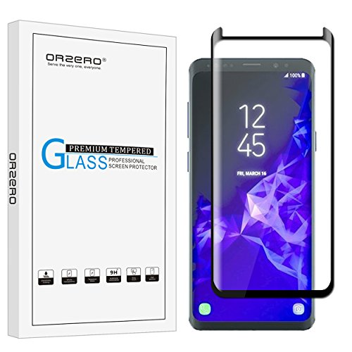 Orzero For Samsung Galaxy S9 (not fit for S9 Plus) Tempered Glass Screen Protector (case friendly), 2.5D Arc Edges 9 Hardness HD Anti-Scratch Full-Coverage [Lifetime Replacement Warranty]