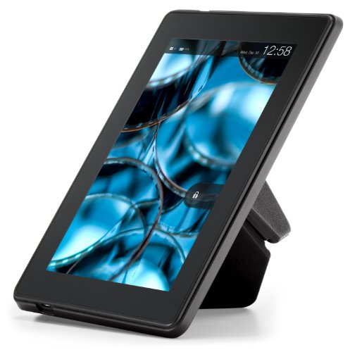 """Amazon Kindle Fire HD Standing Leather Origami Case (will only fit Kindle Fire HD 7""""), Black"""