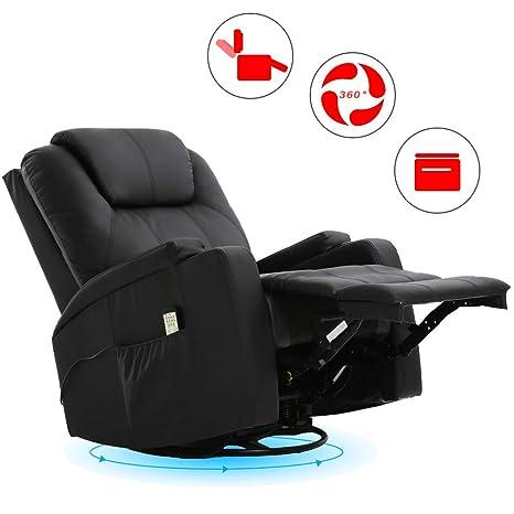 Amazon.com: Recliner Chair Reclining Sofa PU Leather ...