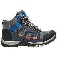 Peter Storm Headley Waterproof Mid Junior Walking Boots, Blue, US13.5