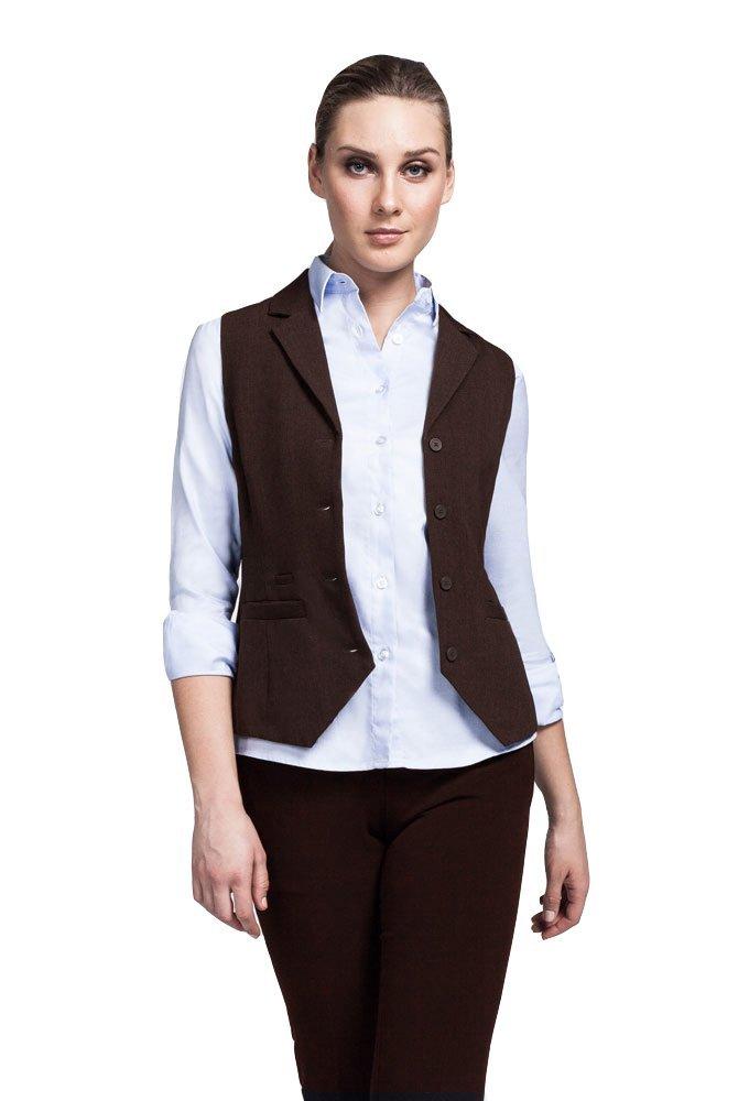 Bistro Women's Vest W/ Patch Pockets - Server Uniform by Noel Asmar