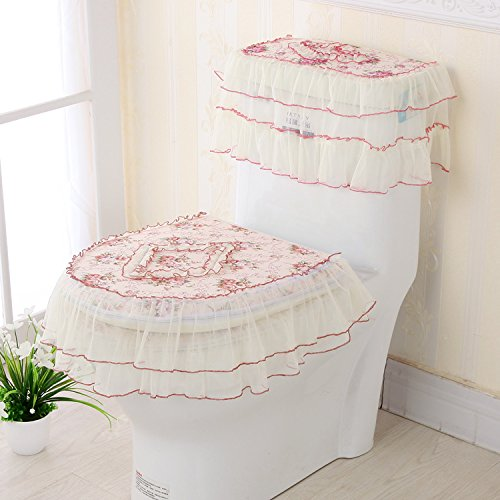 O GH-Winter warm flannel toilet seat cushion thickening toilet bowl three sets of waterproof toilet,CT