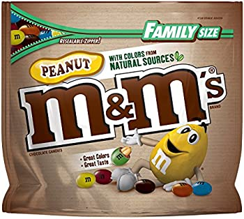 M&M'S Peanut Chocolate Candy Family Size 19.2-Ounce Bag