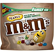 M&M'S Peanut Chocolate Candy With Colors From Natural Sources Family Size 19.2-Ounce Bag
