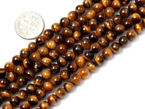 6mm Round gemstone tiger eye stone beads strand 15