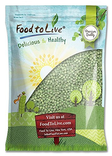(Green Whole Peas (Great for Green Curry, Kosher, Raw, Dried) by Food to Live - 5 Pounds)