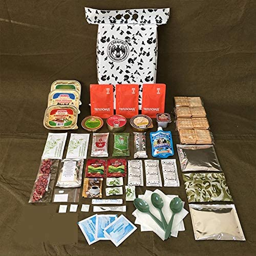 Emergency Food!! 2.4kg 6 x Russian Army Winter MRE DAILY FOOD RATION PACK