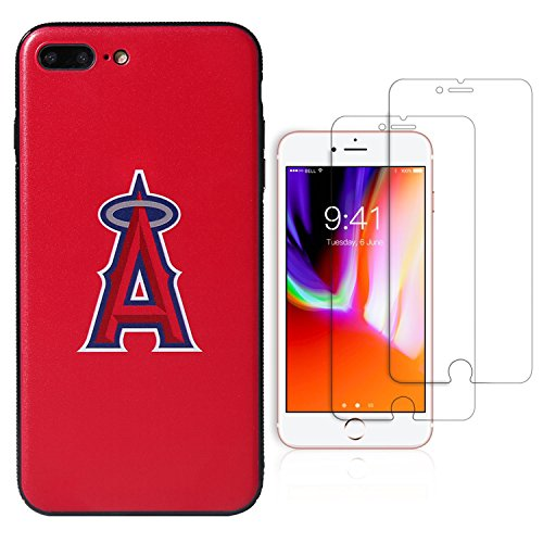 Sportula MLB Phone Case Matching 2 Premium Screen Protectors Extra Value Set - for iPhone 7 Plus/iPhone 8 Plus (5.5