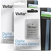 (2 Pack) Vivitar EN-EL14 / EN-EL14a Ultra High Capacity 2300mAH Li-ion Batteries for NIKON DSLR D5500 D5300 D5200 D5100 D3300, COOLPIX P7800 P7700, Nikon DF (Nikon EN-EL14 Replacement)