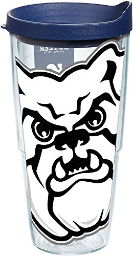Tervis 1201522 Butler Bulldogs Mascot Colossal Tumbler with Wrap and Navy Lid 24oz, (Butler Tumbler)