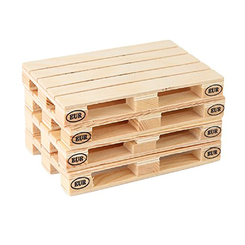 Pallet Coasters, PYRUS Drink Coasters For Wine Glasses, Beer, Whiskey, Cocktail, Hot and Cold Drinks and Other Beverages(Set of 4)