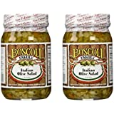 Boscoli Italian Olive Salad - Small, 15.5 ounce (Pack of 2)