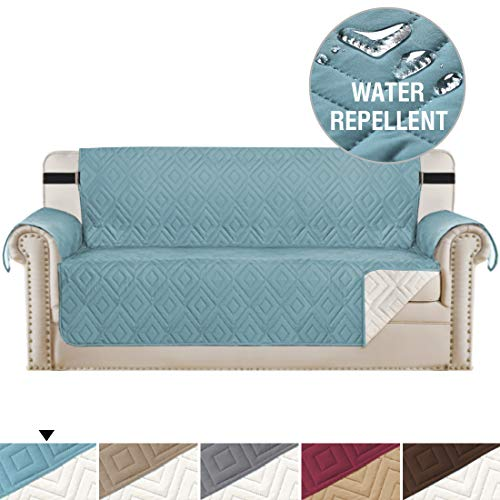 (Reversible Cover for Extra-Wide Couch Oversize Furniture Protector for Sofas, Seat Width Up to 78