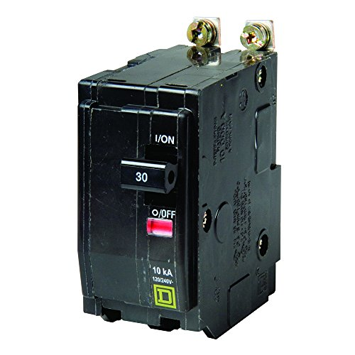 Square D by Schneider Electric QOB230CP 30-Amp Two-Pole Bolt-On Circuit Breaker (Square D 30 Amp Double Pole Breaker)
