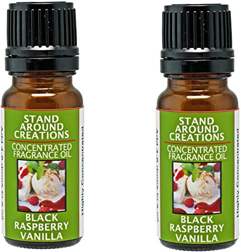 Blend Raspberry - Set of 2 - Concentrated Fragrance Oil - Scent - Black Raspberry Vanilla: A blend of blackberries and raspberries w/notes of vanilla. Infused w/essential oil. (.33 fl.oz.)