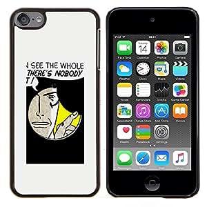 Eason Shop / Premium SLIM PC / Aliminium Casa Carcasa Funda Case Bandera Cover - Divertido Agujero Mensaje - For Apple iPod Touch 6 6th Touch6