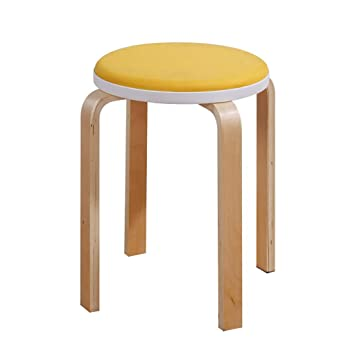 Amazon.de: Massivholz stapelbar solide gebogen Stuhl Stuhl ...