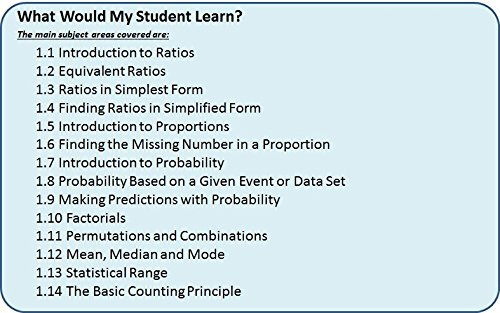 Counting Number worksheets maths probability worksheets : Amazon.com: Learn about Ratio, Proportions, Probability and ...