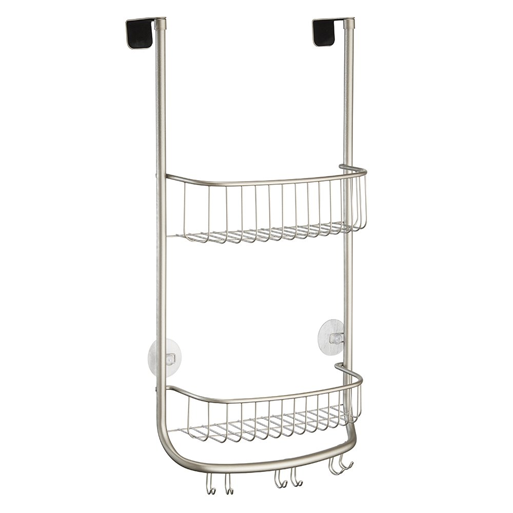 Amazon.com: mDesign Over-the-Door Shower Caddy for Bathroom for ...