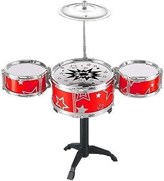 Tasquite Instrumento de percusión 2 Instrumentos Musicales de Moda Juego Rock Set Band Jazz Drum for niños Kid Toddler ABS Plasticand Metal Red: Amazon.es: Juguetes y juegos