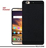 Hello Zone Exclusive Dotted Matte Finish Soft Back Case Cover For Gionee S6 -Black
