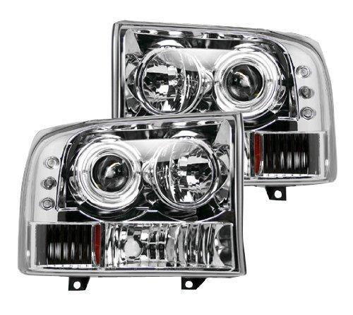 F550 Projector Headlights (Recon 264192BK Ford Superduty 99-04 F250/F350/F450/F550 PROJECTOR HEADLIGHTS - Smoked / Black)