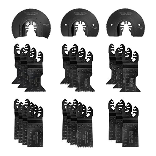 Hex Saw Blade - WORKPRO 23-piece Oscillating Saw Blades Set for Quick Release Multitool, Metal/Wood Blades for Dewalt, Craftsman, Ridgid, Milwaukee, Rockwell, Ryobi and More