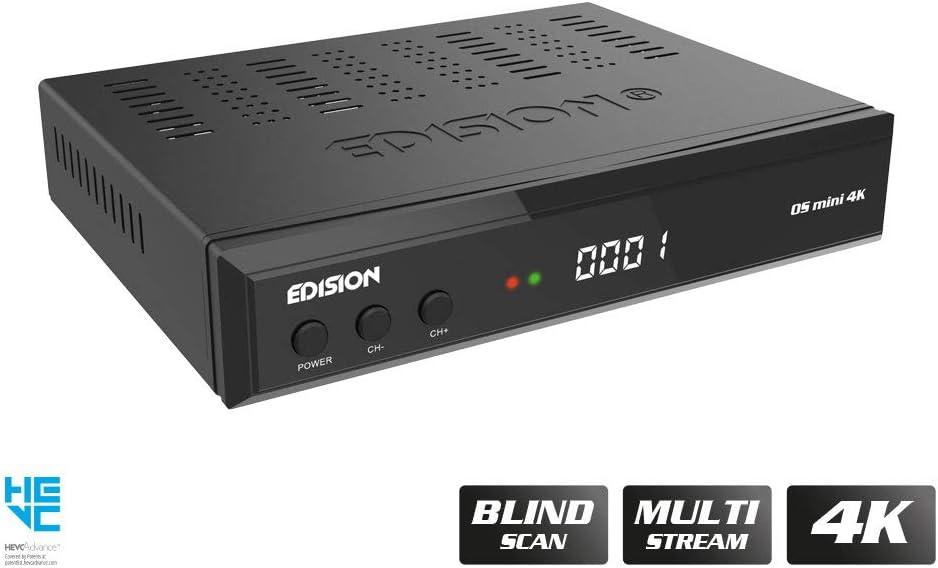Edision Os Mini 4k S2x Linux E2 Sat Receiver H 265 Hevc 1x Dvb S2x Multistream Blind Scan 4k 2160p 2x Usb Hdmi Lan Remote Control 2 In 1 Card Reader Pre Programmed For Astra Hotbridge Amazon De
