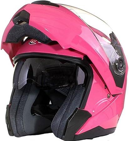 57-58cm Qtech Casque Modulable Pare Soleil Interne Moto Scooter Flourescent M Rose