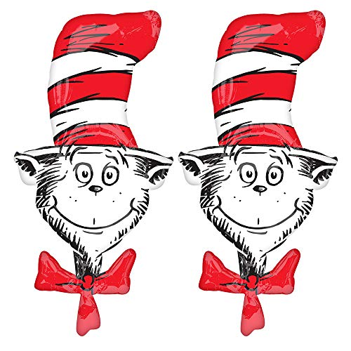Set of 2 Dr Seuss Cat in The Hat Jumbo 42