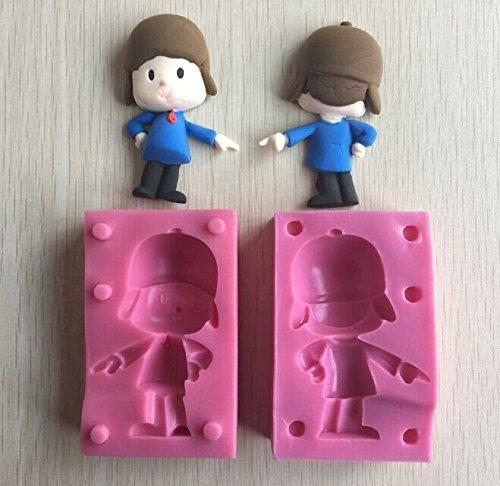 Anyana 3d silicona Fondant molde para Macking Pocoyo Minions Despicable Me para tartas Candy Chocolate molde de silicona para decoración de pasteles de ...
