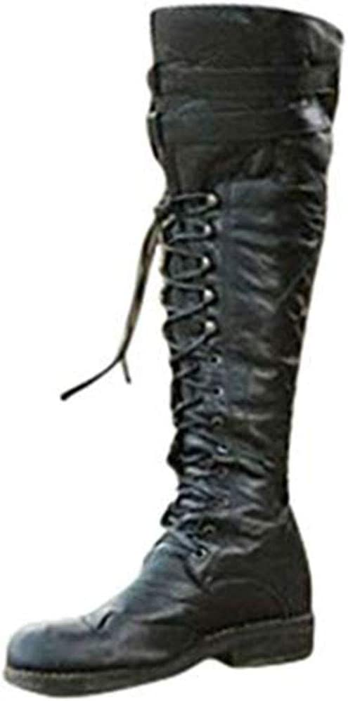 mens black leather knee high boots