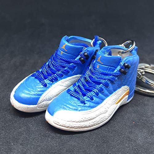Pair Air Jordan XII 12 Retro Melo Carmelo PE OG Sneakers Shoes 3D Keychain 1:6 Figure (Carmelo Air Jordan)