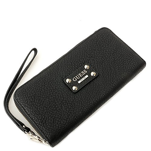 Guess Cartera Langley Slg Large Zip Around Negro