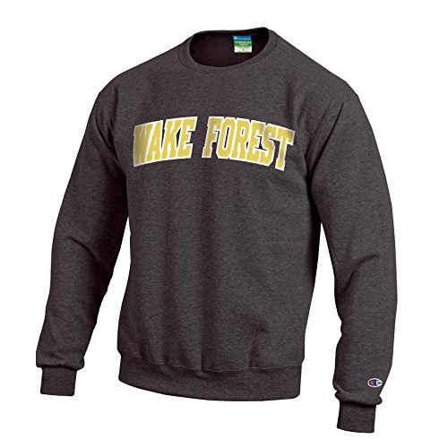 Champion NCAA Wake Forest Demon Deacons Men's Eco Powerblend Crew Neck Sweat Shirt, Large, Granite Heather
