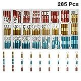 Marine Connectors, 285Pcs ZLZ Heat Shrink Connectors, For Marine & Automotive Use, Crimp Terminal Kit