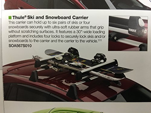 SUBARU Genuine SOA567S010 Ski and Snowboard Carrier (Ski Carrier Snowboard)