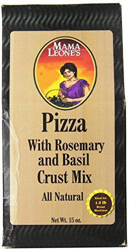 Mama Leone's Pizza Crust Mix With Rosemary & Basil, 15-Ounce Box (Pack of 4)