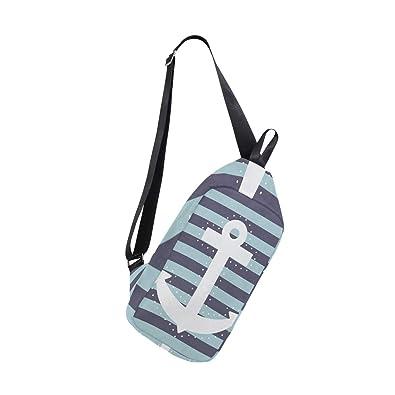 Amazon.com: Sling Bag - Mochila de hombro con cuerda blanca ...