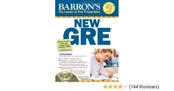 Barron's gre with cd-rom (barron's gre (w/cd)): sharon weiner.