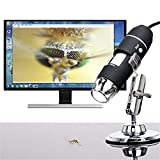 Hot Sale!DEESEE(TM)Portable USB Digital Microscope 50x-1000x Magnification 8-LED Mini Microscope Endoscope Camera Magnifier with Stand