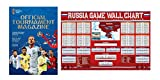 FIFA Russia 2018 World Cup Official Program & World Cup Russia Game Wallchart 2018 Poster 36 x 24in