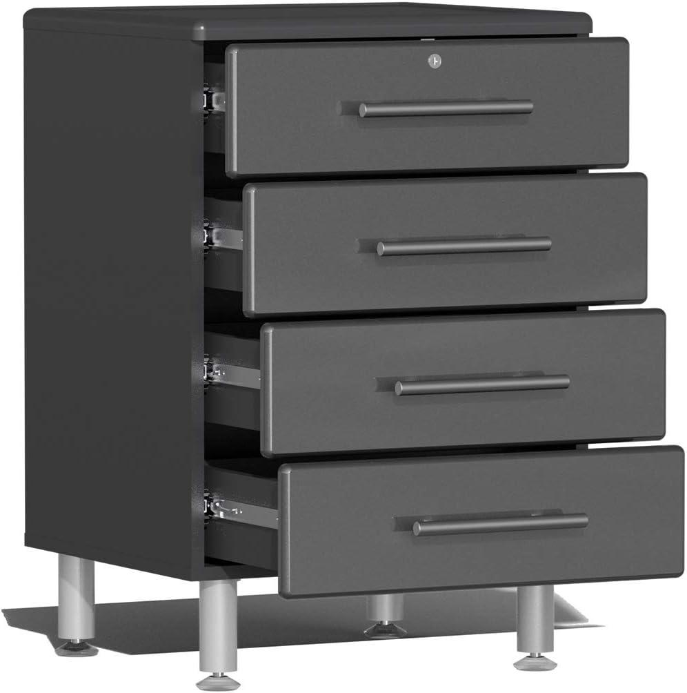 Ulti-MATE UG23101G 10-Piece Garage Cabinet Kit with Channeled Worktop in Graphite Grey Metallic