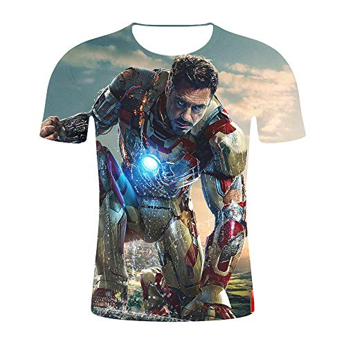 Iron Man Costume Avengers Endgame Costume Tony Stark Costume Ironman T Shirt Men Summer Top]()