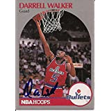 Darrell Walker autographed Basketball Card (Washington Bullets) 1990 Hoops #303 - Autographed Basketball Cards