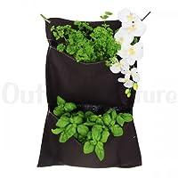 Mur végétal textile 2 compartiments
