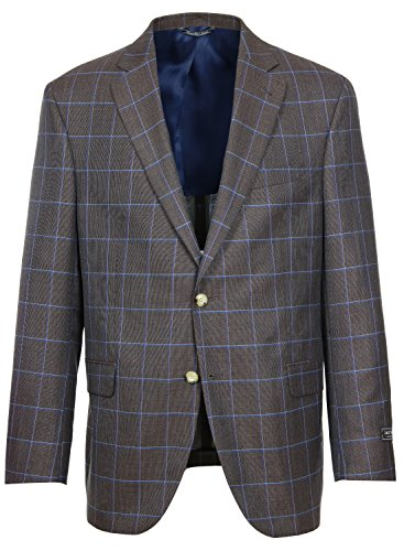 Jack-Victor-Garner-Regular-Fit-Super-120s-Brown-Windowpane-Sport-Coat