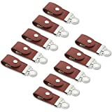 Litop 10 PCS 4GB Brown High Speed Synthetic Leather Buckle Shape USB Flash Drive USB 2.0 Memory Disk U Disk